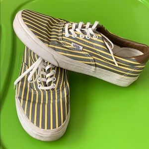 fb8ac8f88c Vans Shoes - Gray and yellow striped vans